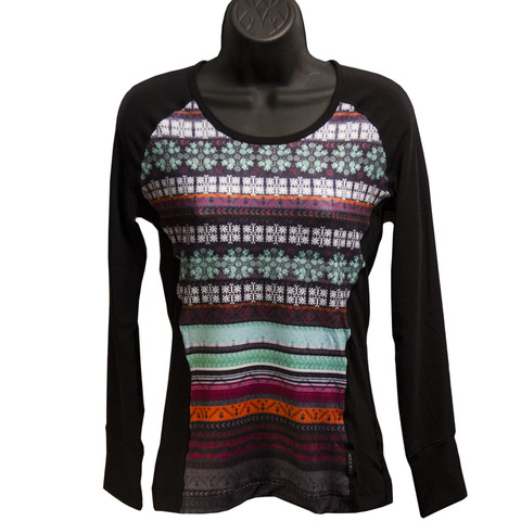 Hot Chillys MTF4000 Sublimated Print Scoopneck - Women's Nordic/black