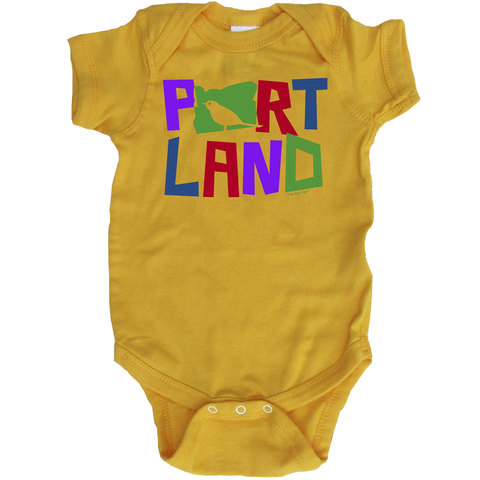 Little Bay Root Portland Colorful Bird Infant Bodysuit