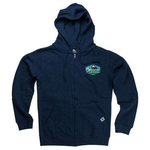 Little Bay Root Oregon Pacific Wonderland Vintage Unisex Zip Hoodie