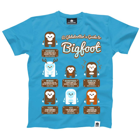 Little Bay Root A Globetrotter's Guide to Bigfoot Shirt - Youth