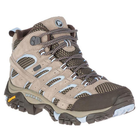 Merrell Moab 2 Mid Waterproof Hiking Boots - Women's Brindle 9.0