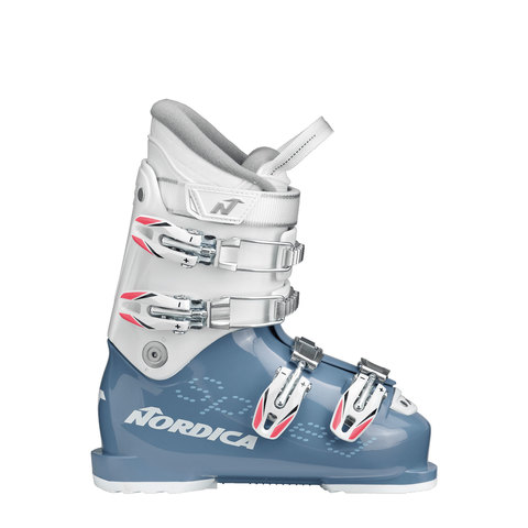 Nordica Speedmachine J4 Boot - Girl's Light Blue/white 21.5
