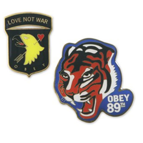 Obey No War Pin Set
