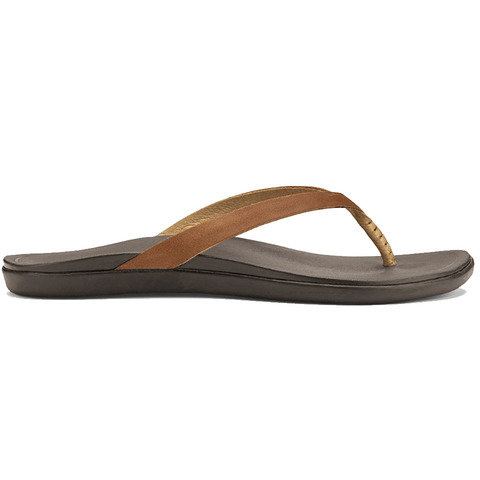 Olukai Ho'opio Leather - Women's Sahara/dk Java