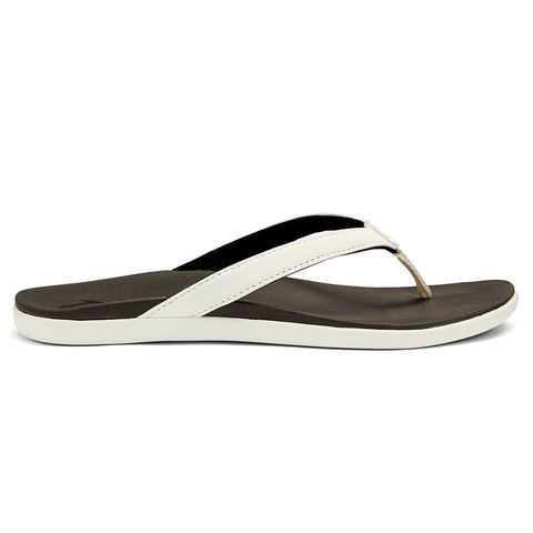 Olukai Hoopio - Womens White/black