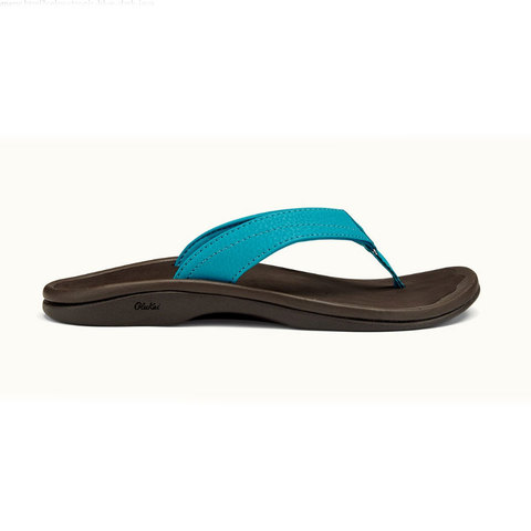 OluKai Ohana Sandal - Womens Tropic Blue/dark Java