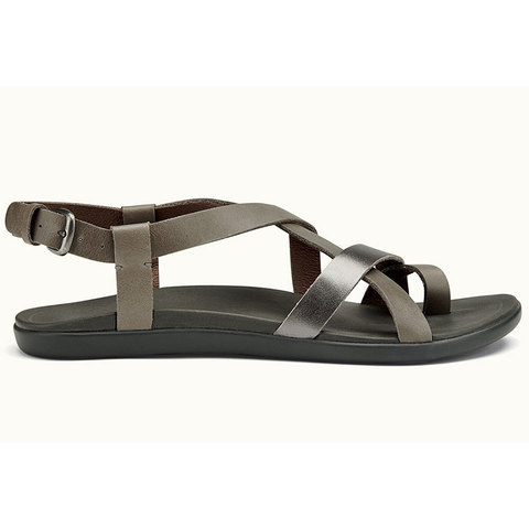 Olukai 'Upena Sandals - Women's Charcoal/pewter