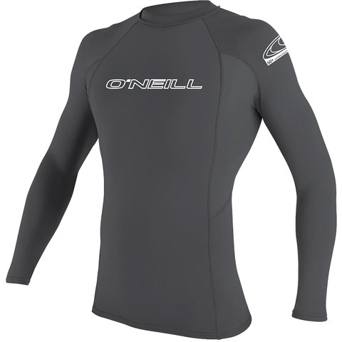 O'Neill Basic Skins 50+ L/S Rash Guard Smoke Md