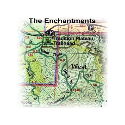Green Trails Maps The Enchantments