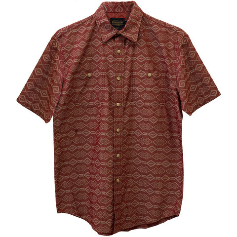 Pendleton Short Sleeve Chambray Jaquard