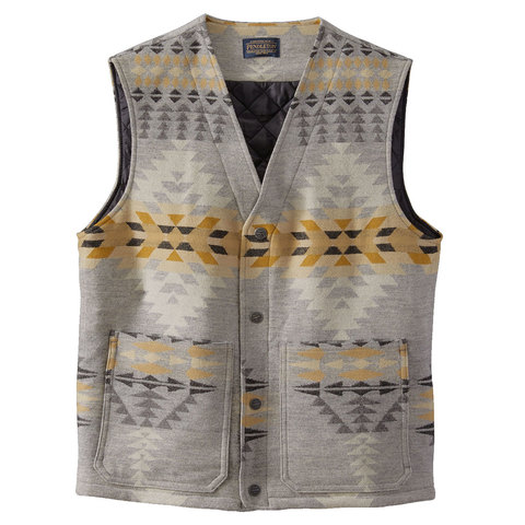 USOutDoor.com - Pendleton Patch Pocket Wool Vest Rancho Arroyo Sm 228.95 USD