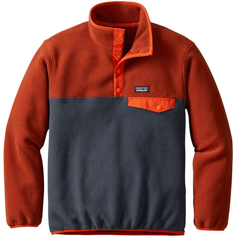 Patagonia Boys Lightweight Synchilla Snap-T Pullover - Kid's