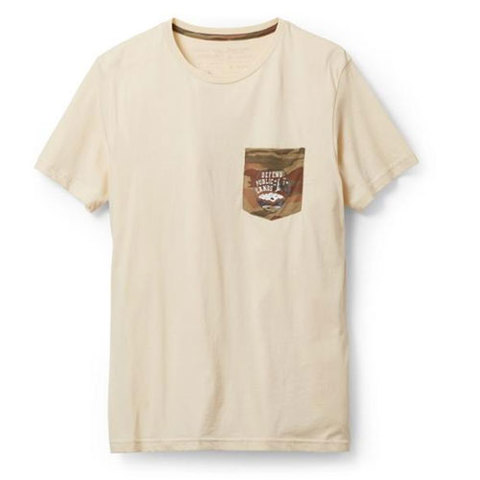 Patagonia Defend Public Lands Tee Oyster White Lg