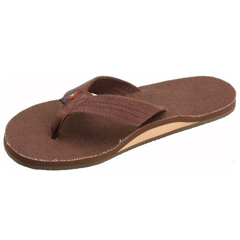 Rainbow Hemp Single Layer Sandals - Women's Brown