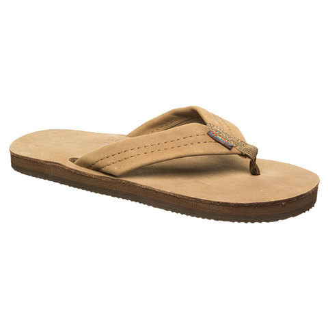 Rainbow Sandals Double Layer Premier Leather Sandals Dark Brown Xxxl