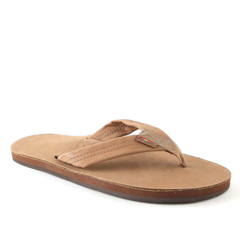 Rainbow Premier Leather Single Layer Sandal Sierra Brown