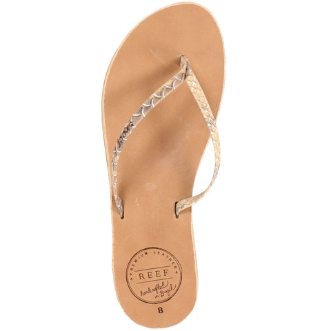 Reef Leather Uptown Luxe Sandals - Women's Tan/snake