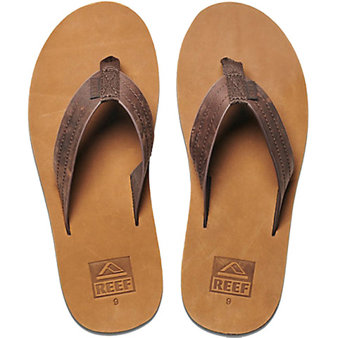 Reef Voyage LE Sandals - Men's Dark Brown/tan 8