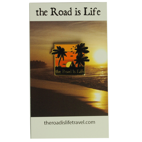 The Road Is Life Sunset Pin