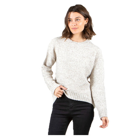 Rusty Opal Crew Knit Sweater - Women's Opal Grey Md