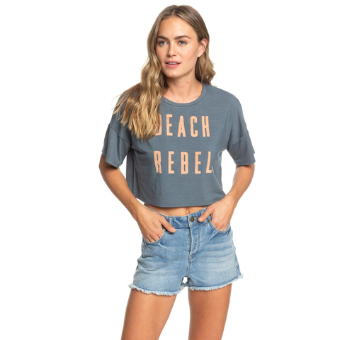 Roxy Beach Rebel Short Sleeve Boyfriend Tee Shirt - Women's
