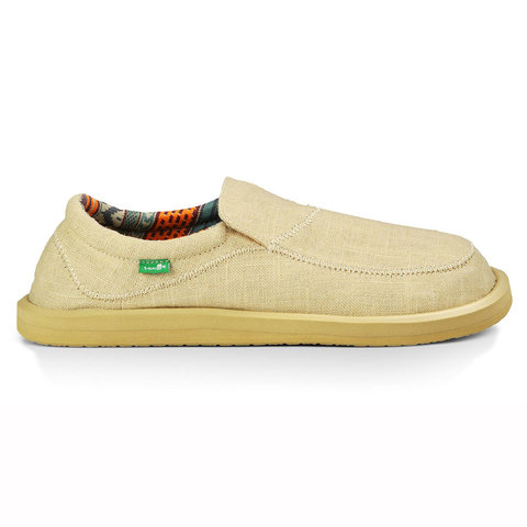 Sanuk Chiba Stitched Shoes Natural