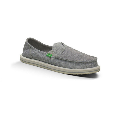 Sanuk Pick Pocket Fleece Shoes - Womens Lt Grey