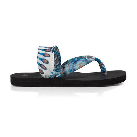 Sanuk Yoga Sling it On Print Sandals - Women's Indigo Pinwheel
