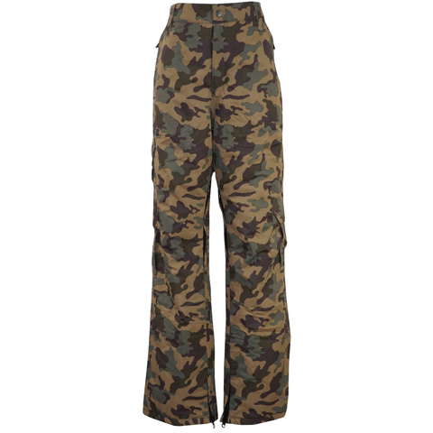 Sportscaster Pulse Statement Printed Insulated Pant - Boy's Woodland Camo Md