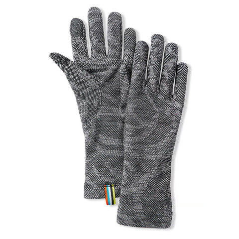 Smart Wool Smartwool Merino 250 Pattern Glove Black Snow Swirl Lg