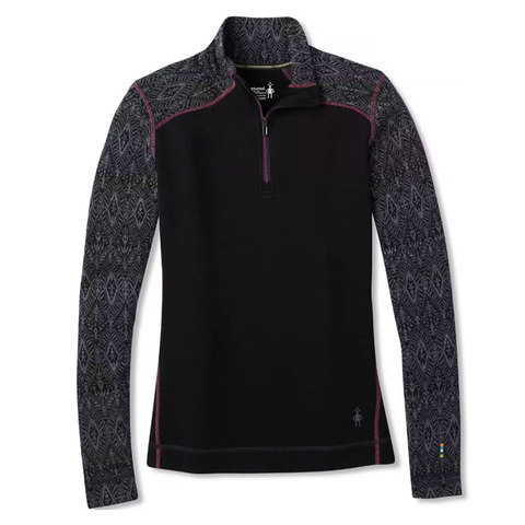 Smartwool Midweight Pattern Zip Tee - Womens