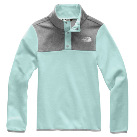 The North Face Glacier 1/4 Snap - Girl's Windmill Blue Md