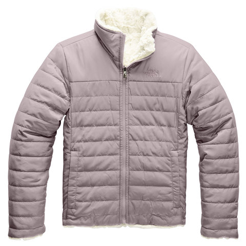 The North Face Reversible Mossbud Swirl Jacket - Girls Ashen Purple Sm