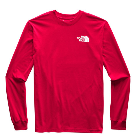 The North Face Longsleeve Red Box Tee