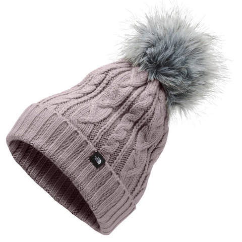 The North Face Oh-Mega Fur Pom Beanie Ashen Purple One Size
