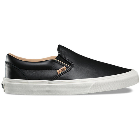Vans Lux Leather Slip-On Shoes