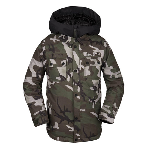 Volcom Neolithic Insulated Jacket – Kid's Gi Camo Md