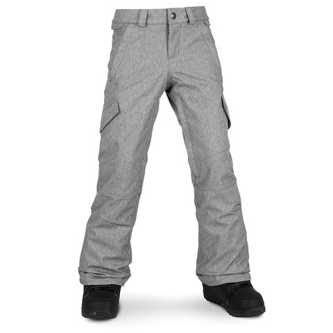 Volcom Silver Pine Insulated Pant - Girl's Heather Grey Xl