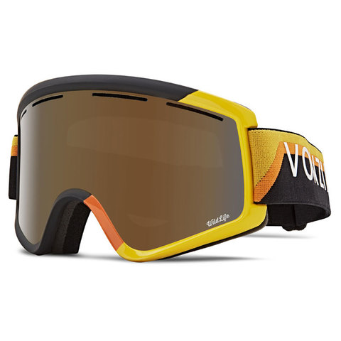 Vonzipper Von Zipper Cleaver Snow Goggles Black Yellow/bronze W/yellow