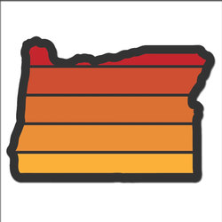 Stickers Northwest Oregon Sunset Sticker