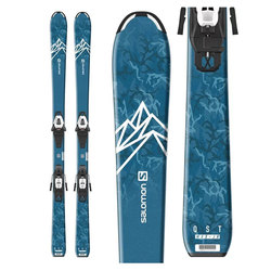 Salomon QST Max Jr. S Skis W/ C5 GW Bindings - Boy's 2020