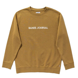 Banks Journal Label Crew Graphic Fleece