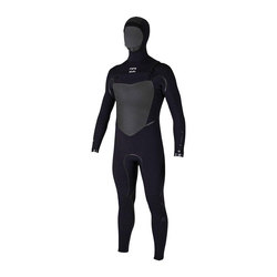 Billabong 5/4 Furnace Carbon X Chest Zip Hooded Fullsuit