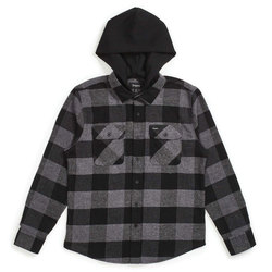 Brixton Bowery Hood L/S Flannel - Men's