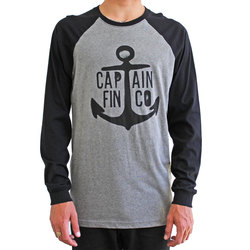 Captain Fin Anvil Baseball LS Tee