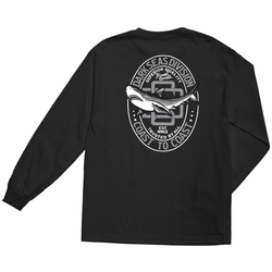 Dark Seas Great White Stock Long Sleeve Tee Shirt - Men's