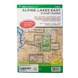 Green Trail Maps Alpine Lakes East