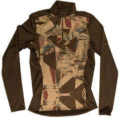 Hot Chillys Micro-Elite Chamois Granite Print Zip-T - Women's