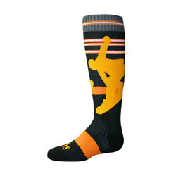 Hot Chillys Snowboarder Fiesta! Socks - Youth