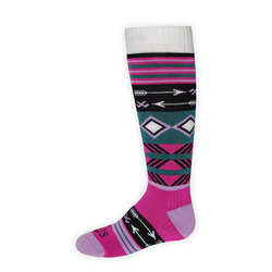 Hot Chillys Primitive Pop Mid Volume Sock - Youth
